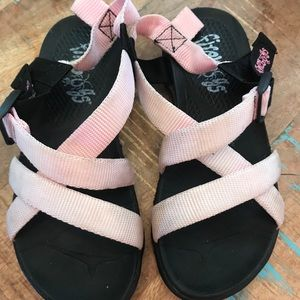 Firebugs Pink and Black Light Up Sandals